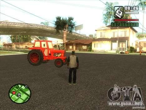 Tractor para GTA San Andreas vista posterior izquierda