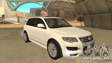 Volkswagen Touareg R50 para GTA San Andreas vista hacia atrás