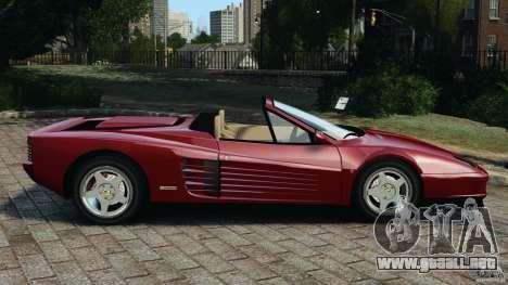 Ferrari Testarossa Spider custom v1.0 para GTA 4 left