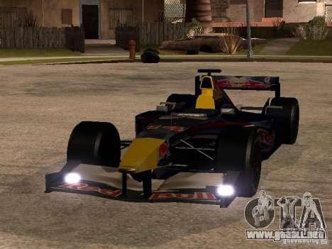 F1 Red Bull Sport para GTA San Andreas vista hacia atrás