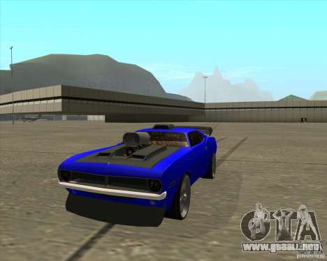 Plymouth Hemi Cuda de NFS Carbon para la visión correcta GTA San Andreas