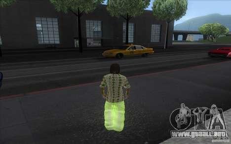 Rasta ped para GTA San Andreas segunda pantalla