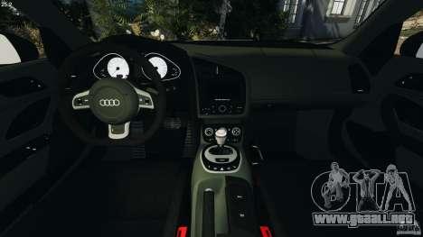 Audi R8 GT 2012 para GTA 4 vista hacia atrás