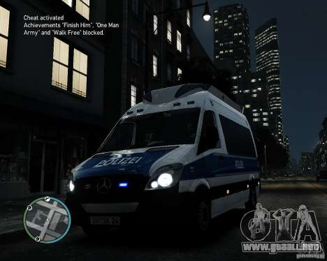 Mercedes Sprinter German Police para GTA 4