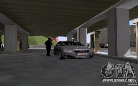 Auto petrolero en gasolinera para GTA San Andreas segunda pantalla