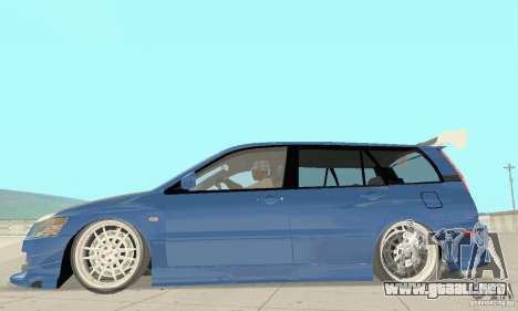 Mitsubishi Lancer Evolution IX Wagon MR Drift para GTA San Andreas vista posterior izquierda