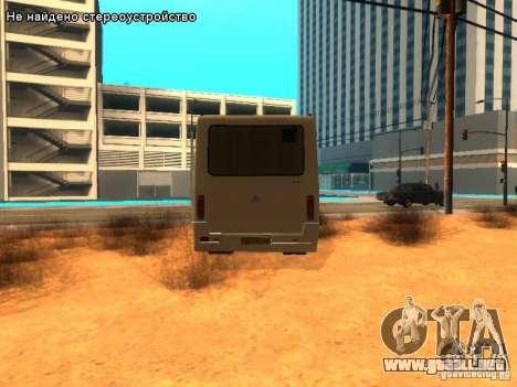 BASES y 079.14 para GTA San Andreas vista posterior izquierda