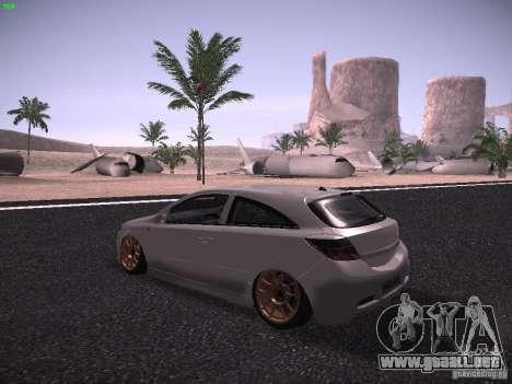 Vauxhall Astra VXR Tuned para GTA San Andreas vista posterior izquierda