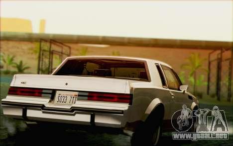 Buick GNX 1987 para el motor de GTA San Andreas
