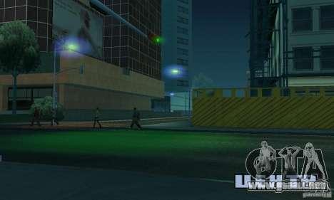 Faros azules para GTA San Andreas sucesivamente de pantalla
