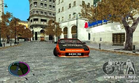 Mazda RX-7 FC for Drag para GTA San Andreas vista posterior izquierda