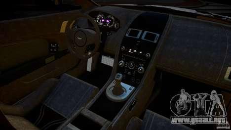 Aston Martin V12 Vantage 2010 para GTA 4 vista interior