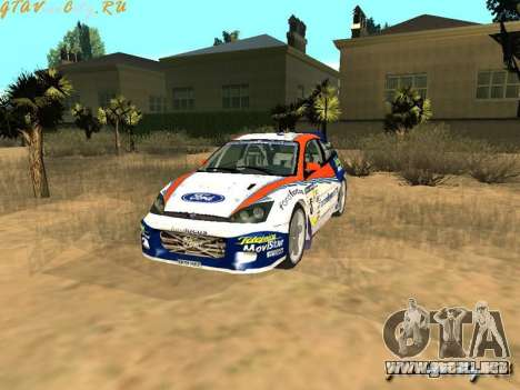 Ford Focus WRC 2002 para GTA San Andreas vista hacia atrás