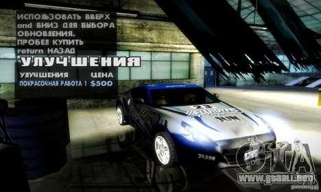 Nissan 370Z V2 para visión interna GTA San Andreas