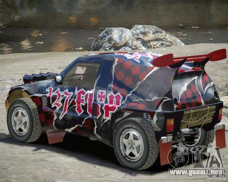 Mitsubishi Pajero Proto Dakar vinilo 3 para GTA 4 vista hacia atrás