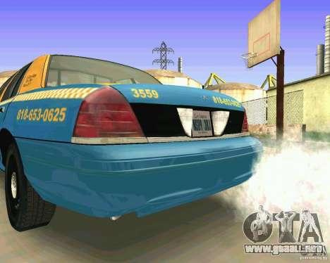 Ford Crown Victoria 2003 Taxi Cab para la visión correcta GTA San Andreas