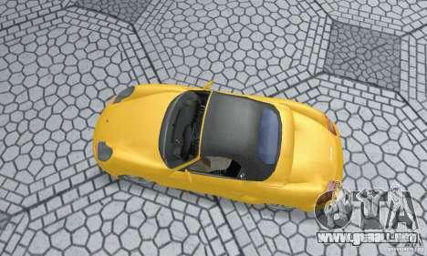 Porsche Boxster para GTA San Andreas vista posterior izquierda