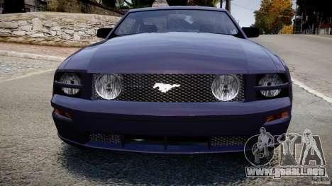Ford Mustang para GTA 4 vista interior