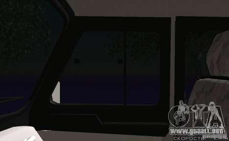 Policía UAZ-31512 para vista lateral GTA San Andreas