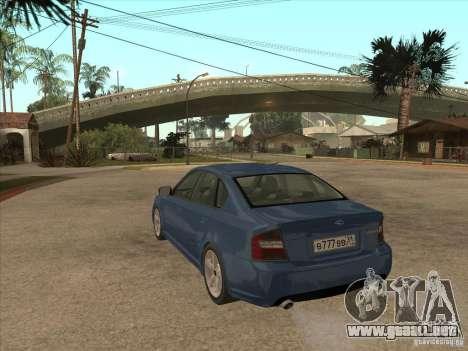 Subaru Legacy 3.0 R para GTA San Andreas vista posterior izquierda
