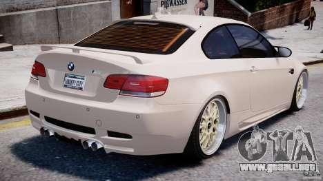 BMW M3 Hamann E92 para GTA 4 vista desde abajo