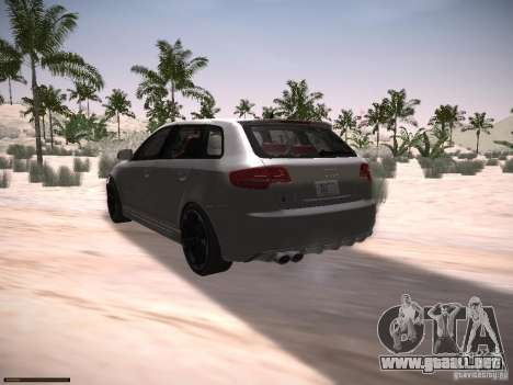 Audi RS3 2011 para GTA San Andreas left