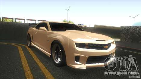 Chevrolet Camaro SS Dr Pepper Edition para visión interna GTA San Andreas