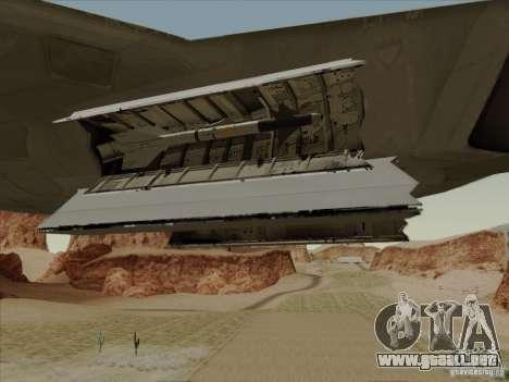 FA22 Raptor para la vista superior GTA San Andreas