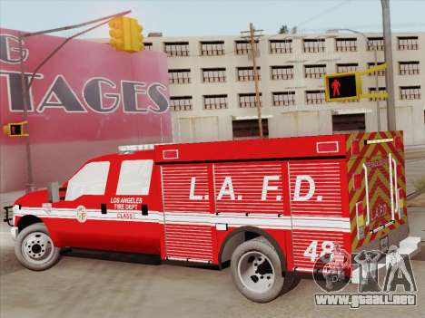 Ford F-350 Super Duty LAFD para vista lateral GTA San Andreas