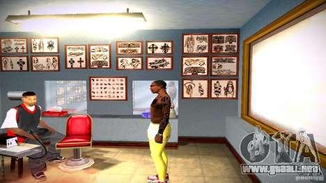 Tres nuevo tatuaje para GTA San Andreas séptima pantalla