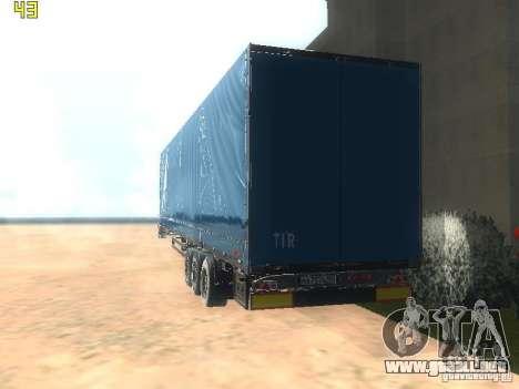Remolque NEFAZ-93341-10-07 para GTA San Andreas vista posterior izquierda