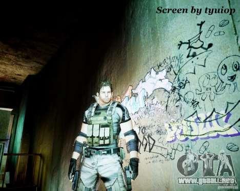 Chris from Resident Evil 5 para GTA 4