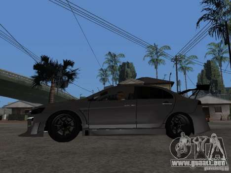 Mitsubishi Lancer Evolution X Drift Spec para GTA San Andreas left