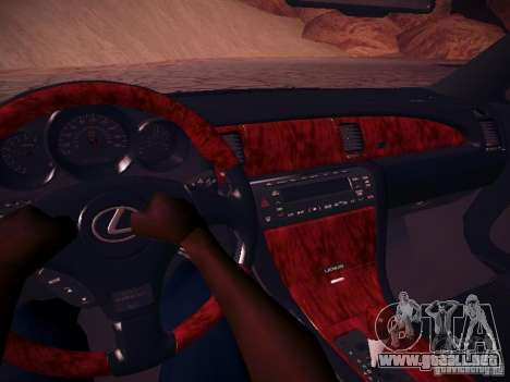Lexus SC430 Daigo Saito para visión interna GTA San Andreas