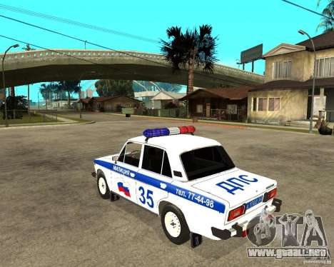 VAZ 2106 DPS para GTA San Andreas left