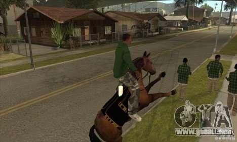 Caballo para GTA San Andreas quinta pantalla