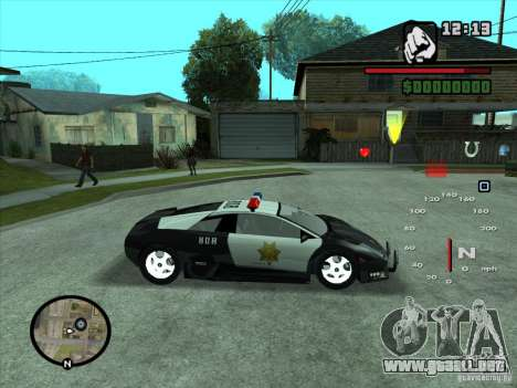 Lamborghini Murcielago Police para visión interna GTA San Andreas