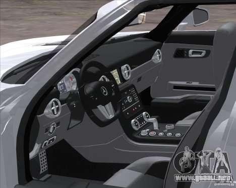 Mercedes-Benz SLS AMG para GTA San Andreas vista posterior izquierda