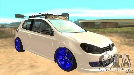 Volkswagen Golf MK6 Hybrid GTI JDM para GTA San Andreas vista hacia atrás