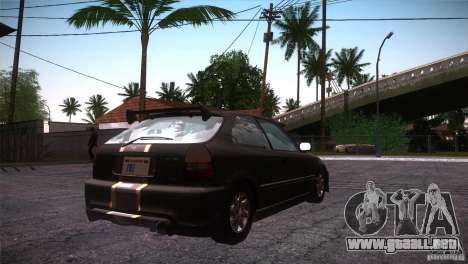 Honda Civic Tuneable para vista lateral GTA San Andreas