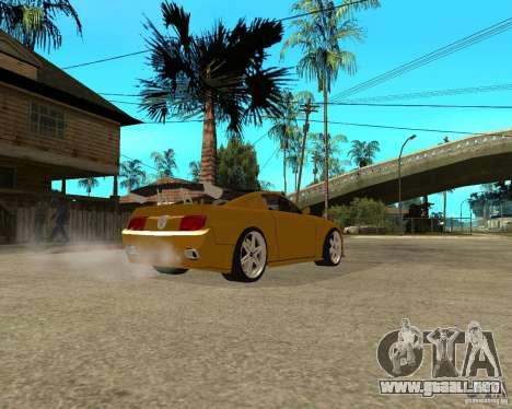 Ford Mustang GT 2005 Concept JVT LORD TUNING para GTA San Andreas vista posterior izquierda