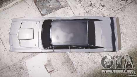 Paseo bajo de cargador Dodge RT 1969 tun v1.1 para GTA 4 visión correcta