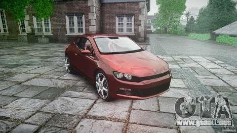 Volkswagen Scirocco 2.0 TSI para GTA 4 vista hacia atrás