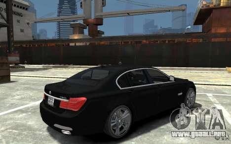 BMW 750i F01 v3 para GTA 4 visión correcta