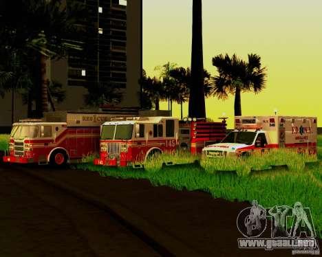 Pumper Firetruck Pierce F.D.N.Y para la vista superior GTA San Andreas