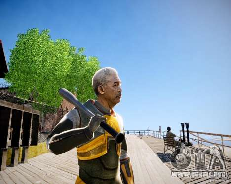 Morgan Freeman para GTA 4 adelante de pantalla