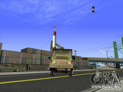 Yankee basado en GMC para GTA San Andreas vista hacia atrás