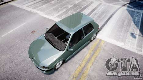Peugeot 106 Quicksilver para GTA 4 vista hacia atrás