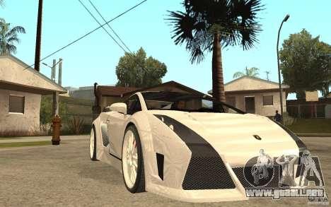 Lamborghini Gallardo MW para GTA San Andreas vista hacia atrás