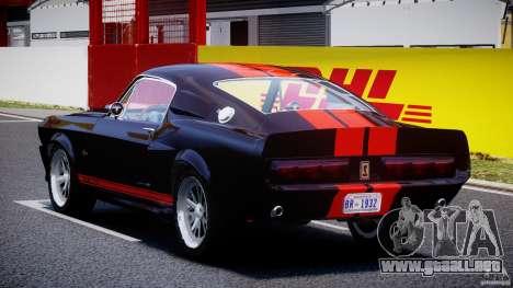 Ford Shelby GT500 1967 para GTA 4 Vista posterior izquierda